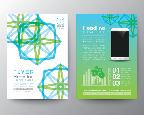 Abstract templates of brochures vector