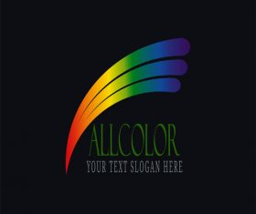 Allcolor logo design vector