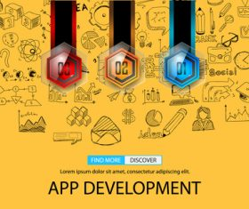 App development information background vector