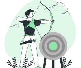 Archery cartoon illustration vector