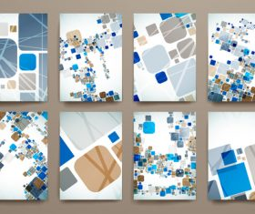 Art abstract brochure design vector