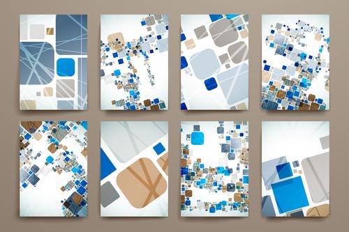 Art abstract brochure design vector