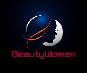 Beauty women logo design vector