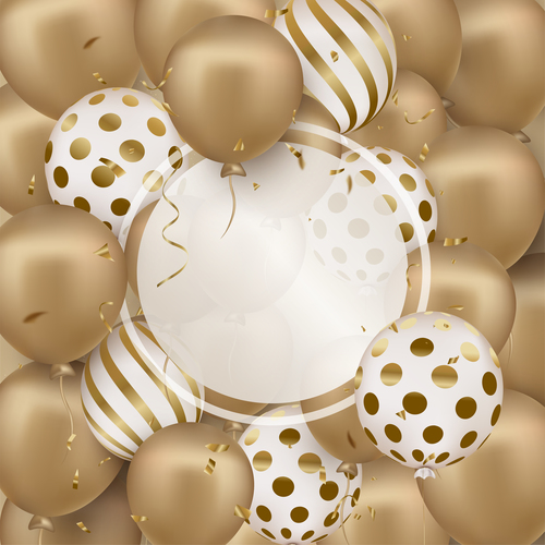 Beige balloon background vector