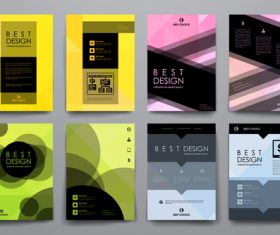 Best design brochure vector