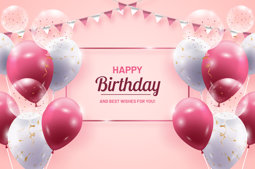 Best wishes for you birthday card vector