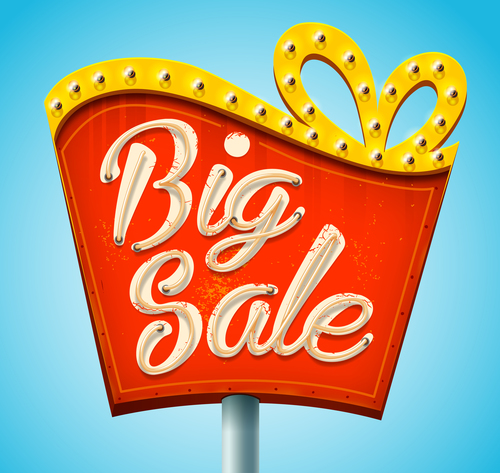 Billboard big sale vector