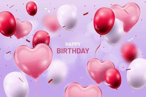 Birthday card design template vector