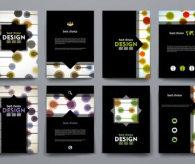 Black background brochure design vector