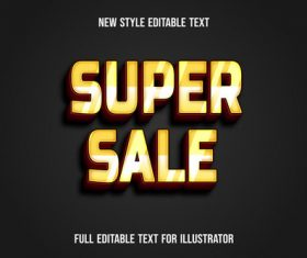 Black background golden font text style effect vector
