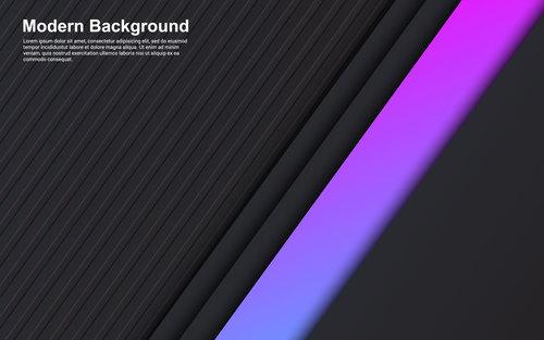 Black background pink stripes vector
