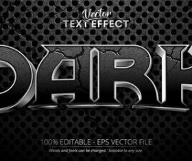Black crack 3d editable text style effect vector
