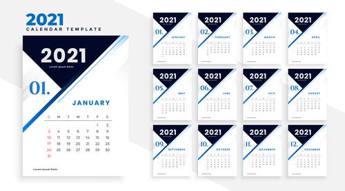 Black header 2021 calendar template vector