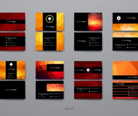 Black red color design brochure vector