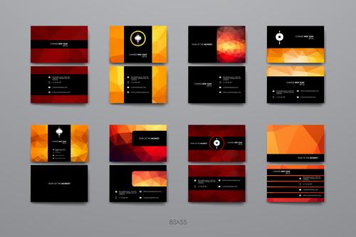 Black red color design brochure vector