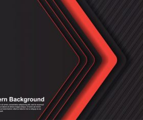 Black red modern background vector