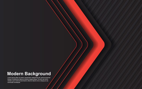 Black red modern background vector