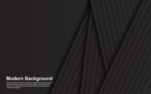 Black stripes background vector