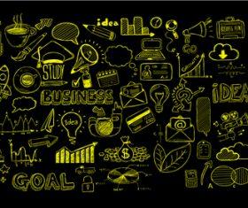 Black yellow sketch concept information vector