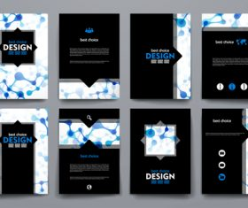 Blue black background brochure design vector