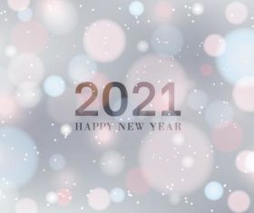 Blur abstract 2021 new year background vector