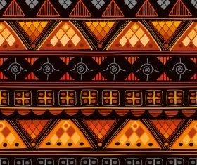 Bright aztec ethnic seamless pattern vector