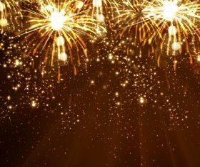 Bright fireworks vector