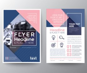 Brochures flyer templates vector