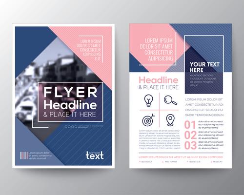 Brochures flyer templates vector