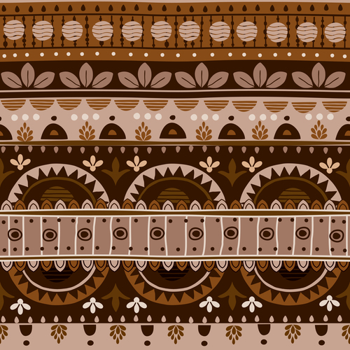 Brown ethnic seamless pattern vector
