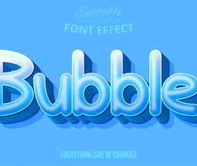 Bubble text style effect vector