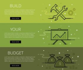 Build your budget vector web banners set