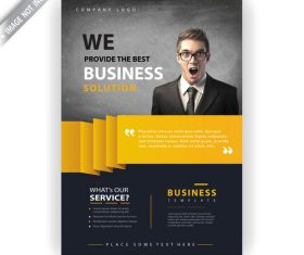 Business company flyer template vector