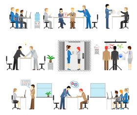 Business cooperation research and development cartoon vector