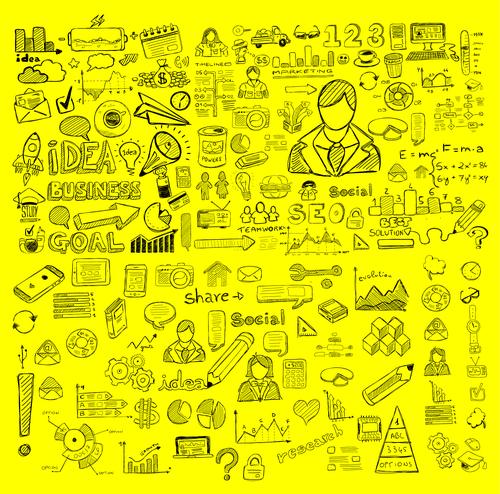 Business creativity sketch concept information vector