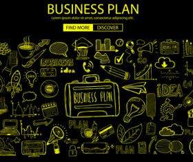 Business plan sketch concept information vector