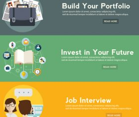 Business portfolio banner vector