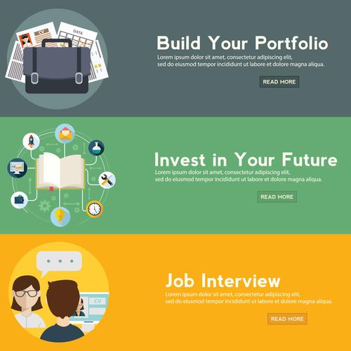 Business portfolio banner vector