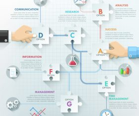 Business puzzle templates of Infographics vector
