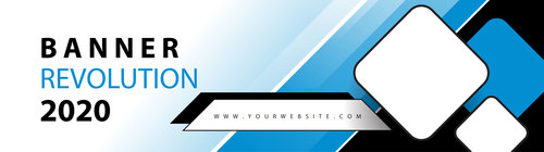 Business web header vector
