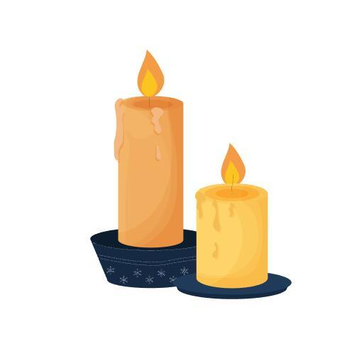 Candle sticker vector