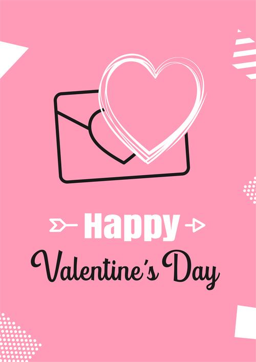 Card vector that conveys love