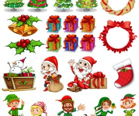 Cartoon christmas icon vector
