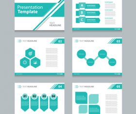 Chart presentation template information vector