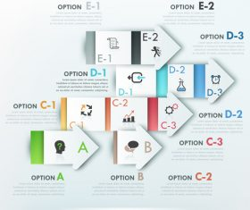 Chemistry templates of Infographics vector
