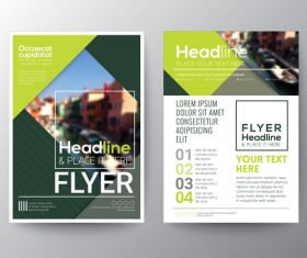 City background brochure vector