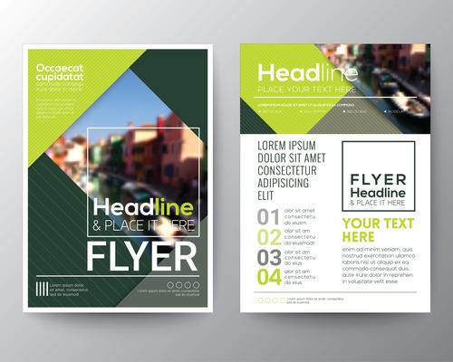City background brochure vector