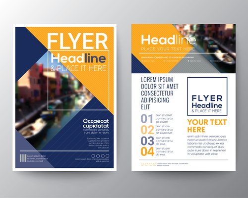 City brochure vector