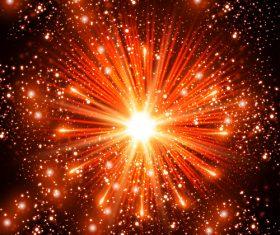 Closeup firework vector