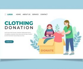 Clothing donation illustration vector